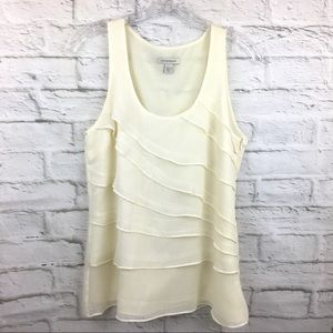 Boston Proper 6 lined sleeveless top layered front
